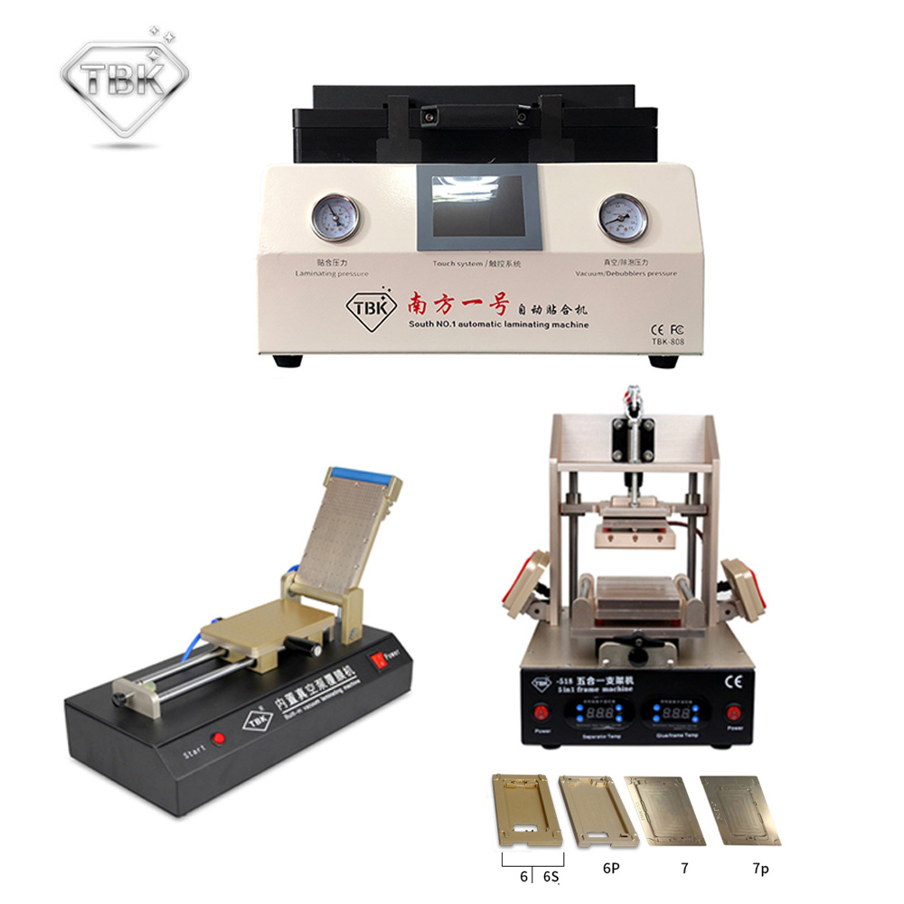 Máquina laminadora de vacío TBK-808 LCD OCA + 518 5in1 Separador LCD / Máquina laminadora de marco + 761 Máquina laminadora de película de vacío