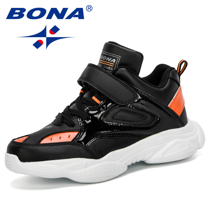 BONA 2019 New Casual Shoes Wearable Walking Footwear Children High Top Sneakers Shoes Boys Lace Up Footwear For Kids ComfortableBONA 2019 New Casual Shoes Wearable Walking Footwear Children High Top Sneakers Shoes Boys Lace Up Footwear For Kids Comfortable