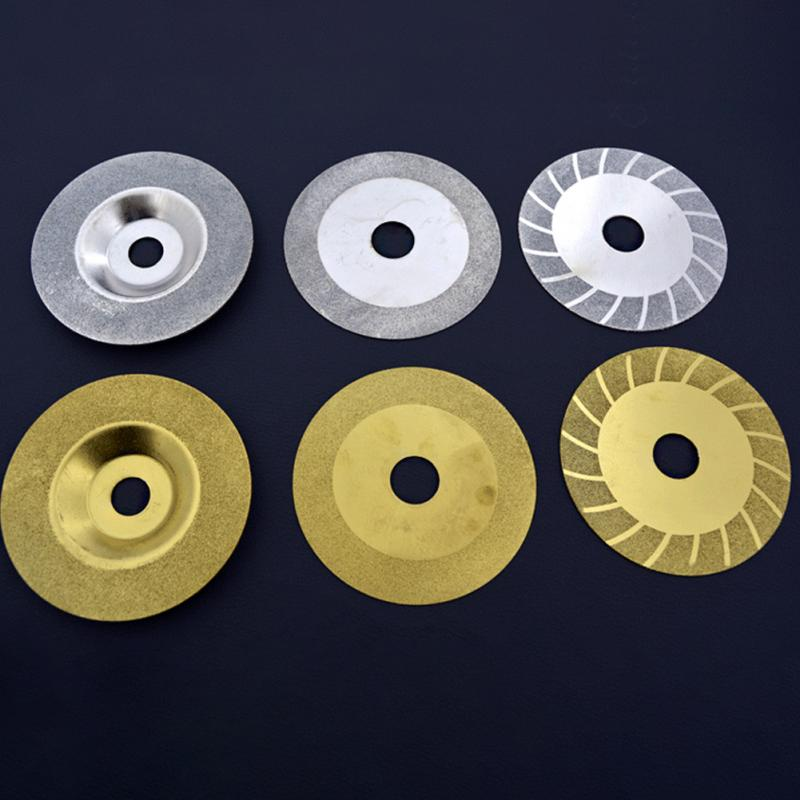 New Mini Diamond Saw Blade Silver Gold Web Glass Abrasive Plate Cutting Discs For Dremel Drill Fit Rotary Tool