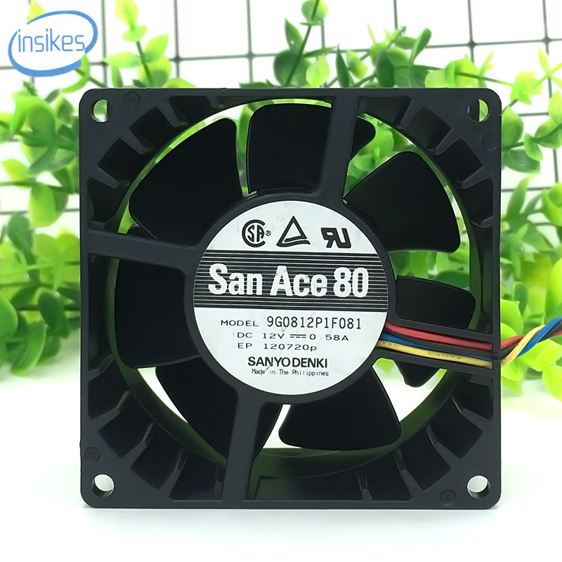 For Sanyo 8038 12V 1.8A 9G0812G101 fan supports PWM