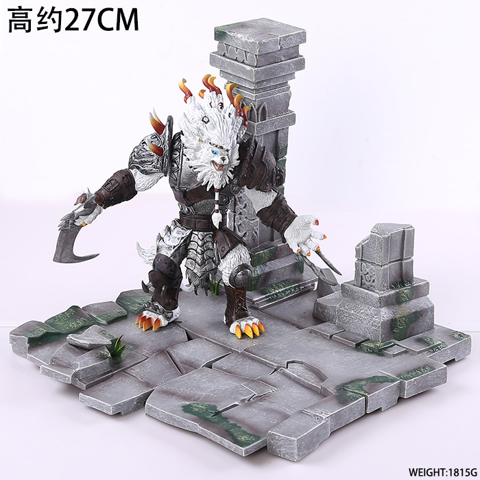 EMS Shipping 11 Game Rengar Boxed 27cm PVC Action Figure Collection Model Doll Toy Gift ems shipping 12 sets cute super mario game mario luigi brothers set pvc action figure collection model dolls toy 3pcs per set