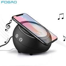 Портативная Bluetooth-Колонка Fdgao, беспроводное зарядное устройство Qi, подставка для быстрой зарядки, динамик для iPhone 8 X XS MAX XR Samsung S9 S8 S7