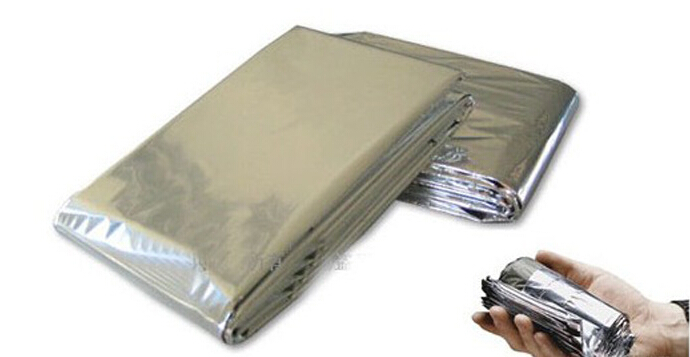 100pcs lot Waterproof Emergency Survival Blanket Foil Thermal First Aid Rescue Blanket
