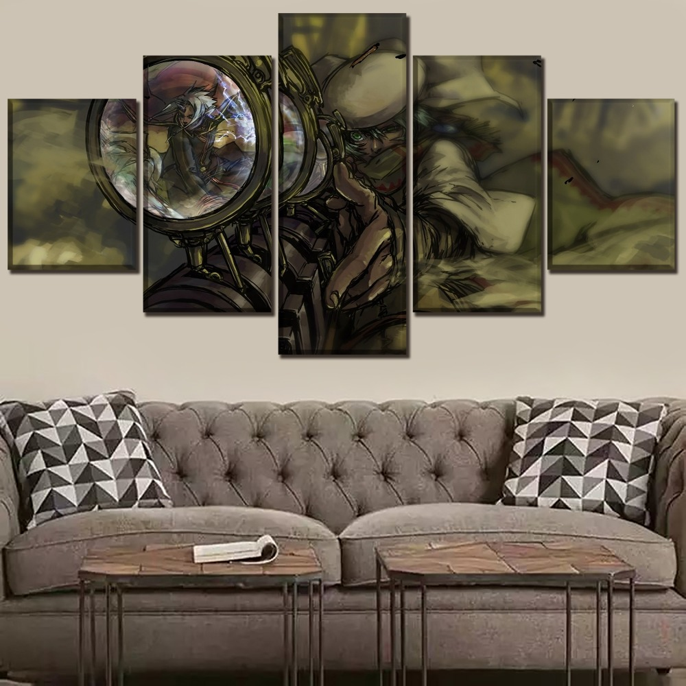 Wall Art Home Decor Unique Printing Type Poster 5 Panel