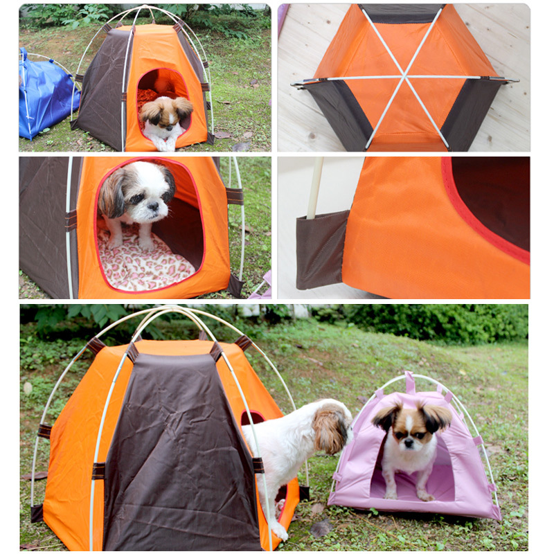 Pet Tent Outdoor Sun Protection Portable Kennel Waterproof Detachable Folding Puppy Kitten Bed Pet Supplies in Houses Kennels Pens from Home Garden