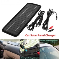 Portable 12V 4.5W Solar Panel Power Battery Charger Backup For Auto Car Van Boat
