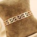 AGOOD 2017 luxury elegant shiny fashion jewely brand rose gold bracelet vintage bangles for women femme party wedding love cuff