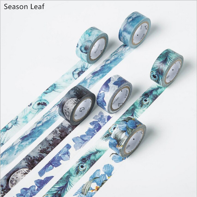 24 Styles 4 Seasons Color Flower Swatch Washi Tape Adhesive Tape DIY Planner Decoration Scrapbooking Sticker Label Masking Tape