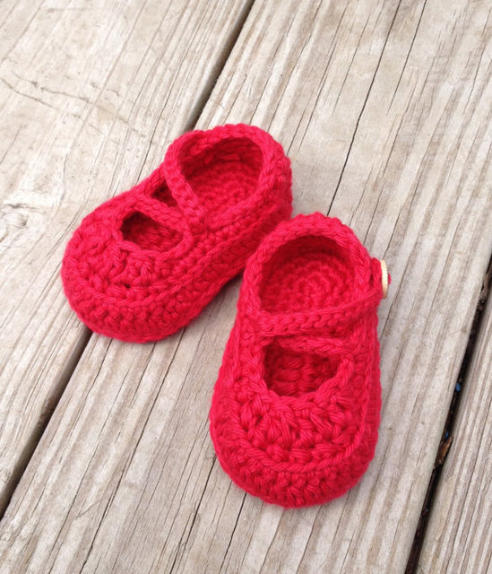 Häkeln Babyschuhe Häkeln Babyschuhe Baby Taufe Crochet Rote Baby