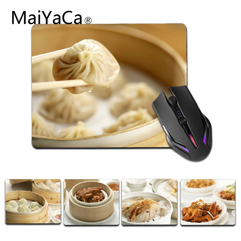 MaiYaCa Top Quality Chinese-Food small Mouse pad PC Computer mat Size for 18x22cm 25x29cm Gaming Mousepads
