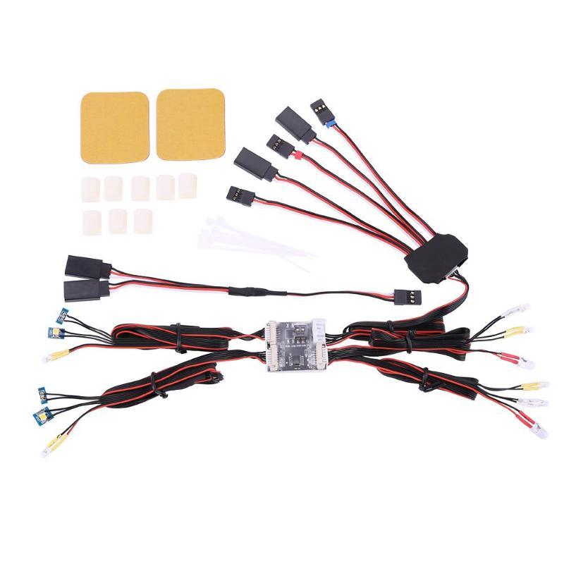 Simulation 1/10 TRX4 RC Car LED Lights Control System For Traxxas TRX-4 Ford Bronc LED Lights for Traxxas TRX4 Bronco RC Truck servo and battery forward conversion kit for traxxas trx 4 truck