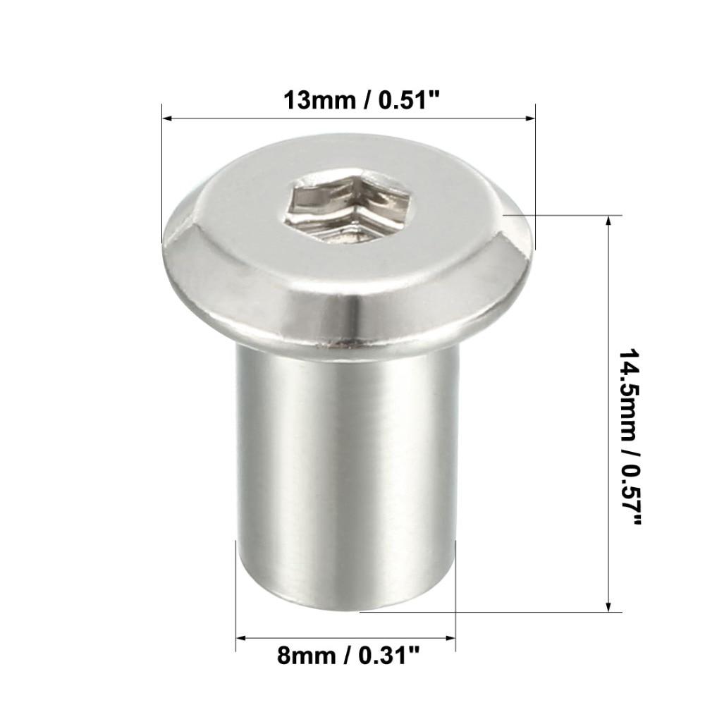M6x17mm Rivet Phillips Head Socket Barrel Nut Furniture Fittings 25pcs