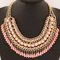 Fashion Resin Water Drop Collares for Women Statement Bohemian Necklaces & Pendants 2017 Vintage Maxi Necklace Collier