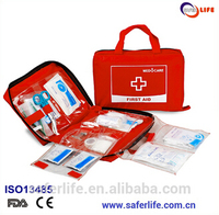 SL 049B Emergency Mini Medical Multi Components Red First Aid Kit Bag With Handle