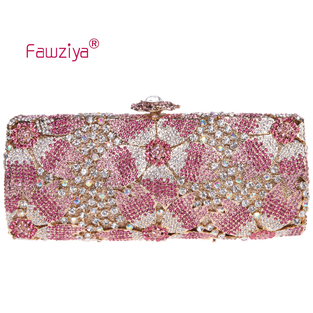 Fawziya Clutch Flowers Bling Sakura Floral Clutch Bags For Womens Evening Bags clutch adriana muti clutch
