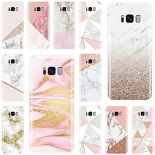 Gold Pink Glitter Marble Cover Soft Silicone For Samsung Galaxy S7EDGE S6 S7 S8 S9 S10 PLUS S10LITE NOTE 8 9 Phone Case(China)
