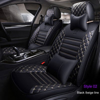 Embroidered PU Leather Car seat covers For Toyota Corolla Camry Rav4 Auris Prius Yalis Avensis SUV auto Interior Accessories