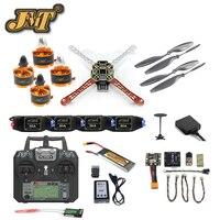 JMT Mini DIY Quadcopter Pełny Zestaw 2.4G 10CH F450 RC Samolot Radiolink PIX M8N GPS PIXHAWK Wysokości Trzymać FPV Upgrade