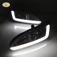 SNCN LED Daytime Running Lights For Hyundai Santa Fe IX45 2013 2014 2015 DRL 12V ABS