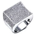 TT Fashion Square rings for Women Rhodium Plated Cubic Zirconia Pave Setting Lead Free rings jewellery Color stone