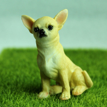 1pc Miniature Fairy Garden Decorations Crafts Bonsai Figurine Mini Gnome Moss Animals Cute Chihuahua Dog Garden