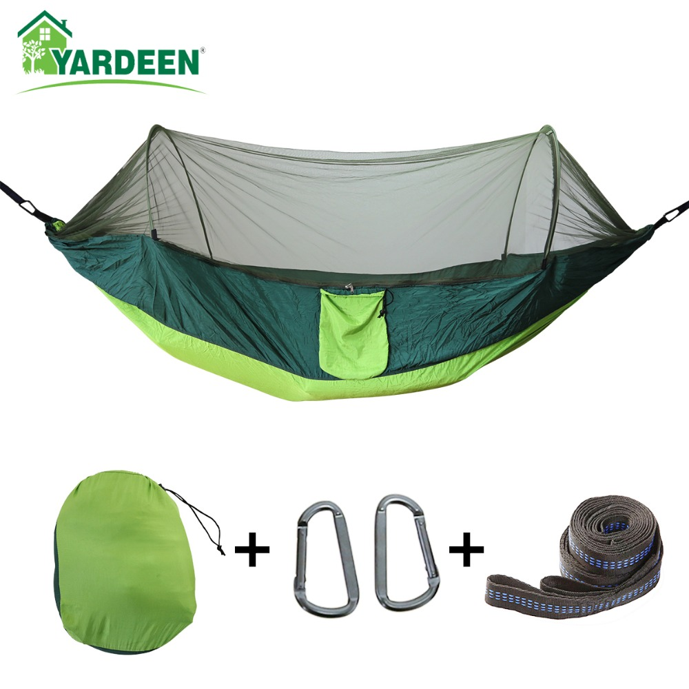 Adaptable 2 To 3 Persons 290*140cm Tree Hammocks Camping Indoor Outdoor Portable Parachute Hammocks For Backpacking Survival Travel