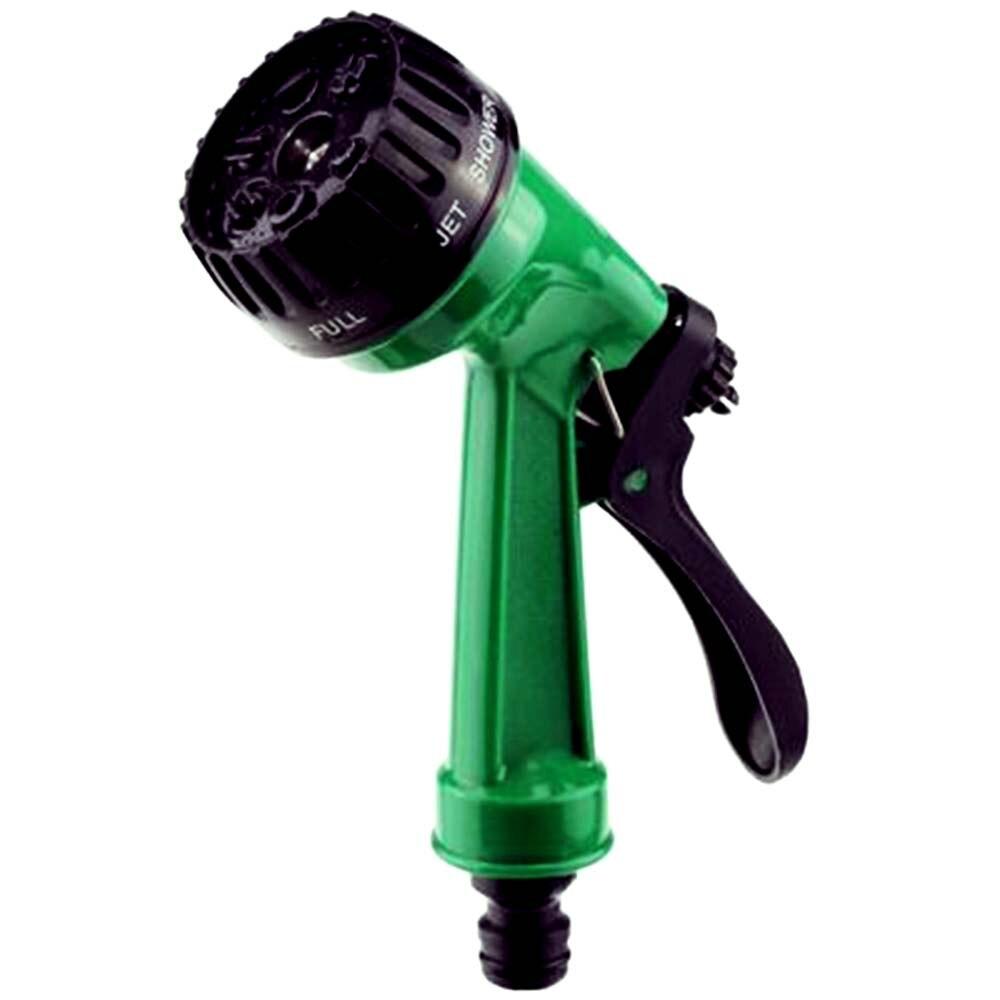 7 Way Patterns Heavy Garden Hose Water Pressure Sprayer Gun Nozzle  Adjustable Sprinkler Head Car Washing