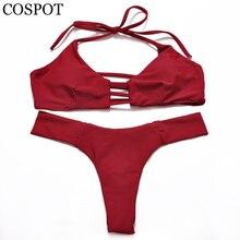 COSPOT женский купальник женщина микро купальный костюм бикини для женщин плавание одежда отдельные купальный костюм, купальник сексуальный комплект бикини