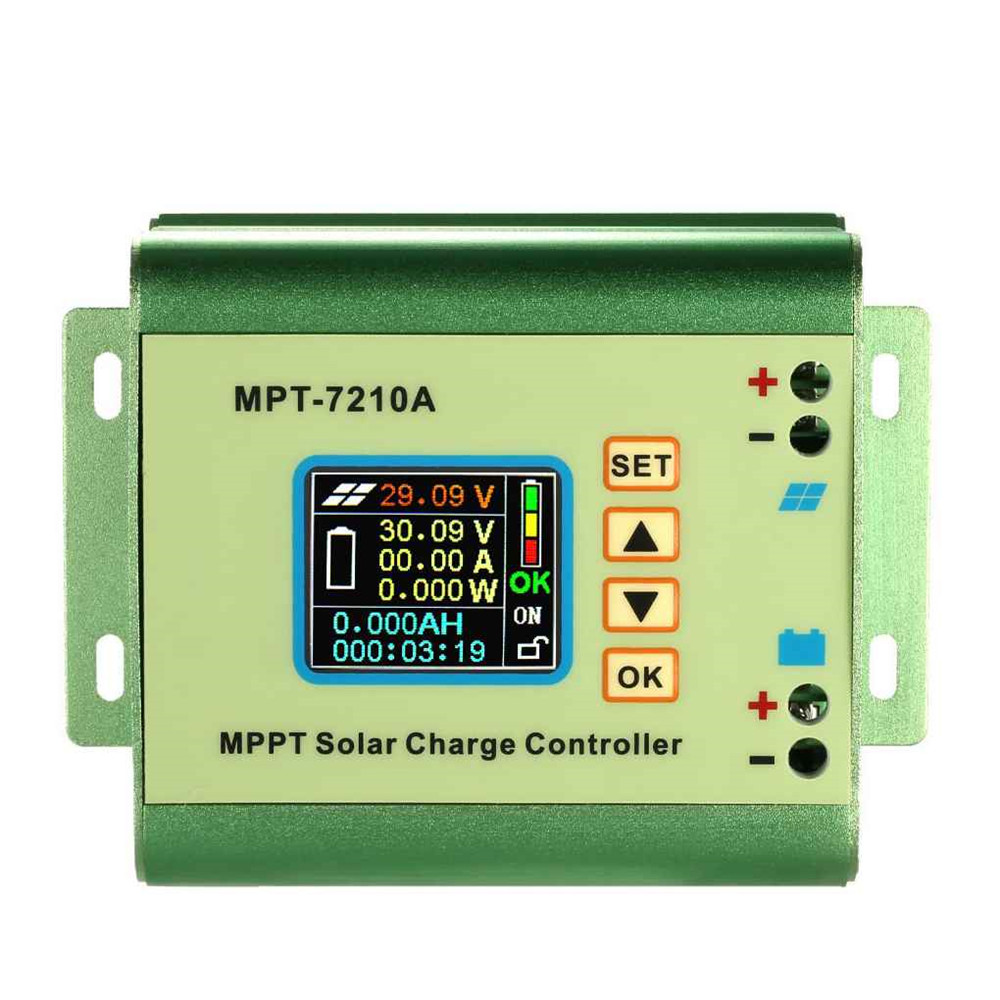 MPT 7210A MPPT Solar Panel Battery Regulator Charge Controller with LCD Display for 24/36/48/60/72V Battery