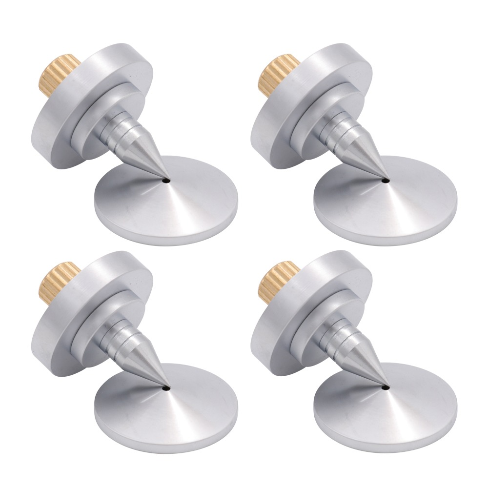 High End Machined Brass Speaker Isolation Spike Hifi Audio Amplifier Vibration Stand Cone Feet Pad 35