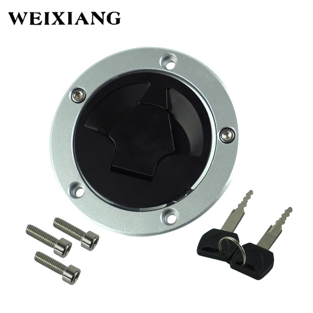 US Stock Fuel Gas Cap Cover Lock Keys For Kawasaki VERSYS KLE650 2007-2015