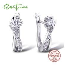 Серебряные серьги для женщин Белый Камень CZ Твердые 925 серебряные серьги ювелирные изделия