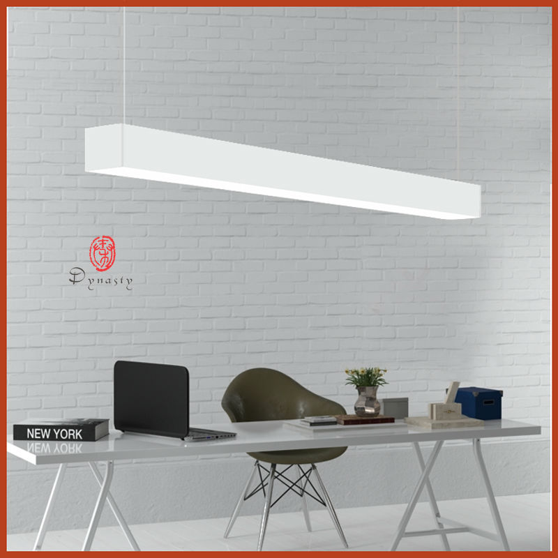 Modern Aluminum White Office Hanging Light PMMA LED 1.2M Library Exhibtion Shopping Mall Super Market Free Shipping Dynasty