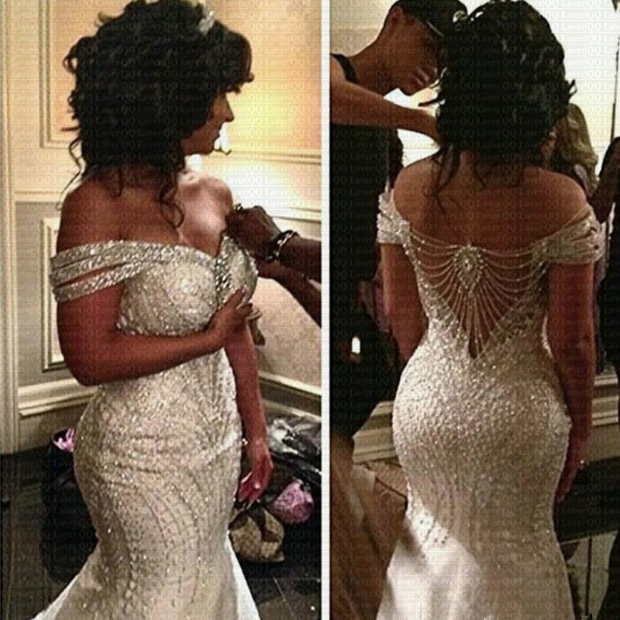 2020 New African Mermaid Wedding Dress Sheer Beading Saudi Arabia Bridal Gown Wedding Gowns