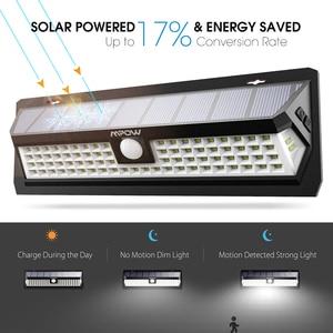 Image 3 - Mpow CD124 80 LED Solar Light 120 Degree Sensing Angle Outdoor Light 3 Adjustable Lighting Time For Garden Driveway Yard Garage