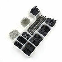 1550 шт./компл. 2,54 мм разъем Dupont комплект PCB заголовки мужской женский шпильки кабель для электроники джемпер игольчатая головка корпус