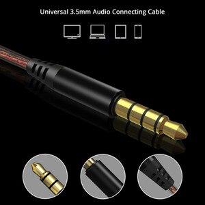 Image 4 - באיכות גבוהה כפול דינמי נהג אוזניות 3.5mm באוזן אוזניות 4 רמקולים HiFi בס סטריאו ספורט אוזניות עם מיקרופון