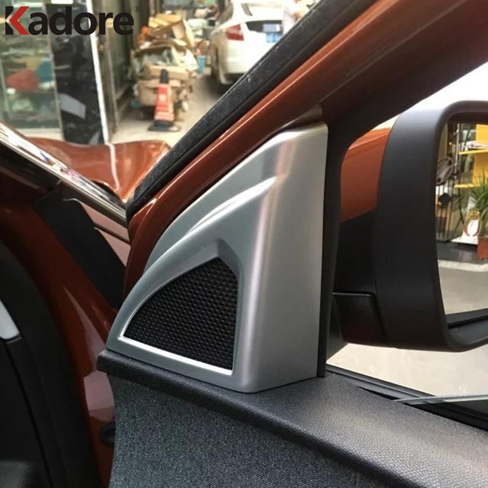 For Peugeot 3008 GT 2017 2018 Car Door Sound Speaker Audio Ring Cover Trim ABS Matte Interior Loud Speaker Decoration Trims 2pcs