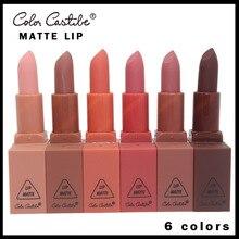 COLOR CASTLE  6 Colors Fashion Matte LipStick Easy toWear Rich Color Charming Perfect