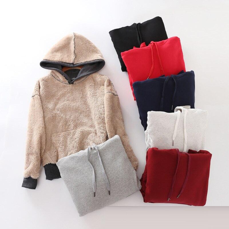 S-XXL bts Femmes Hoodies pulls 2018 hiver cachemire chaud Épais Sweat Femelle Femmes À Capuche Survêtement sweat-shirt mujer