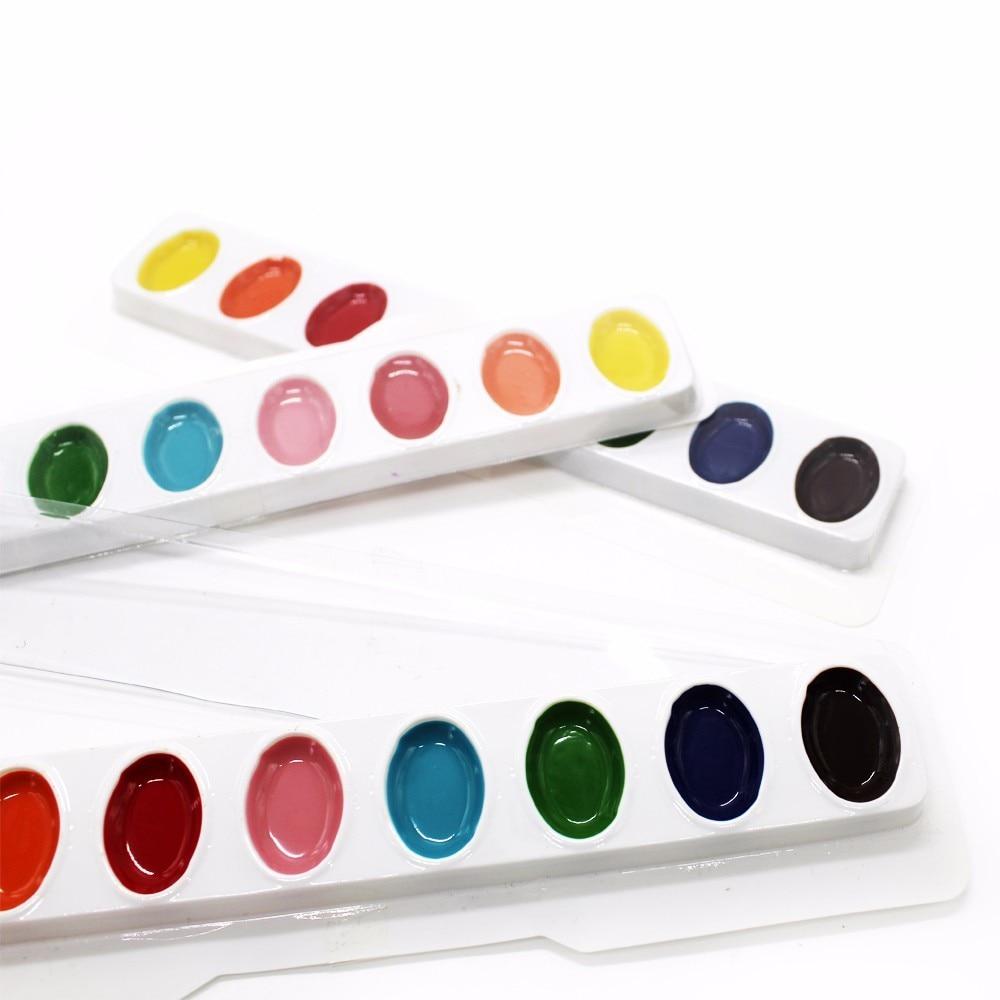 3 stks van effen aquarel punt en verf 8 kleur beginners hand - School en educatieve benodigdheden