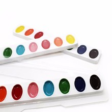 3 pcs of solid watercolor point and paint 8 color beginners hand painting children non toxic