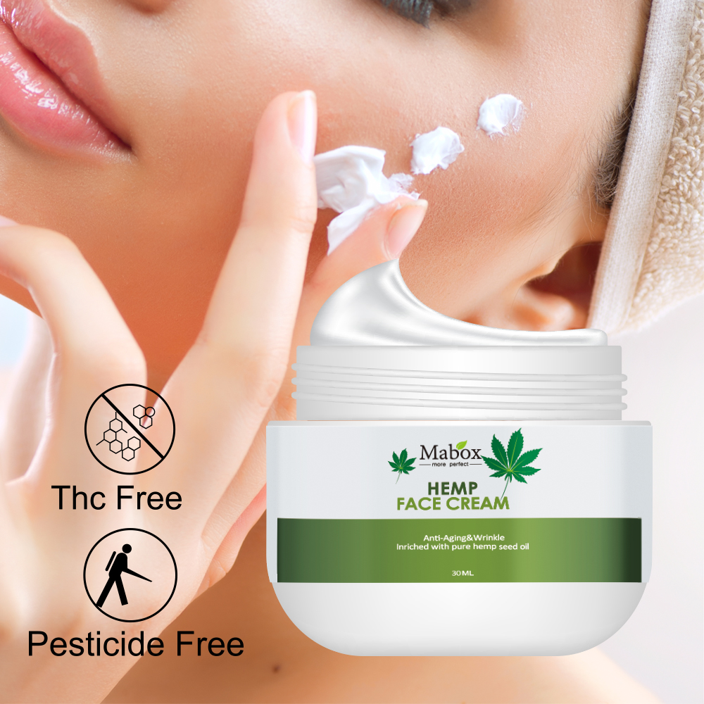 MABOX Cannabis Hemp Seed Oil Cream-100% Natural-Dry Cracked Skin Moisturizer. Gentle Body Lotion, Hand, Foot, Face Cream.