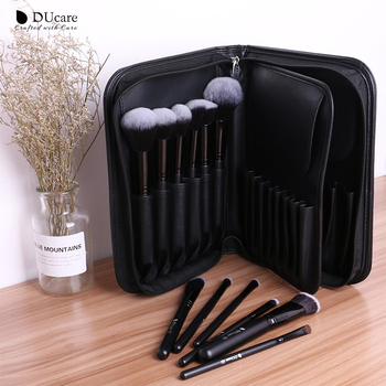 DUcare Cosmetic Bag Makeup Brush Case Travel Makeup Pouch Professional Beauty Container Storage Big Cosmetic Organizer 5