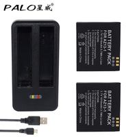 PALO New Type Batetries 2pcs 1010mah Original For Xiaomi YI Lite YI 2 4Kplus 4k LED