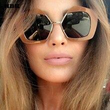 HBK Retro Semi Rimless Square Sunglasses