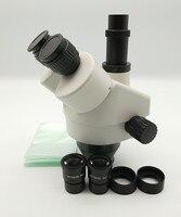 科学 SZM745 7x 45X 三眼ズームステレオ顕微鏡ヘッド、顕微鏡アクセサリー 顕微鏡 ツール -
