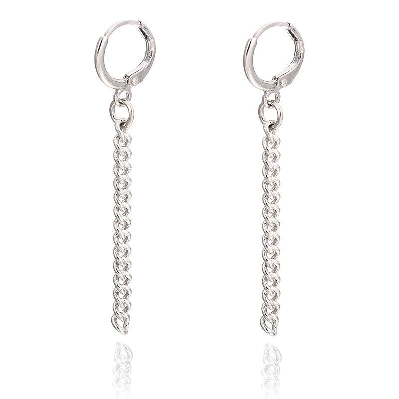 E0408 Punk Style Tassel Earrings For Men Women Korea BTS JIMIN Stud Earrings Statement Jewelry Exquisite Gift Wholesale 4