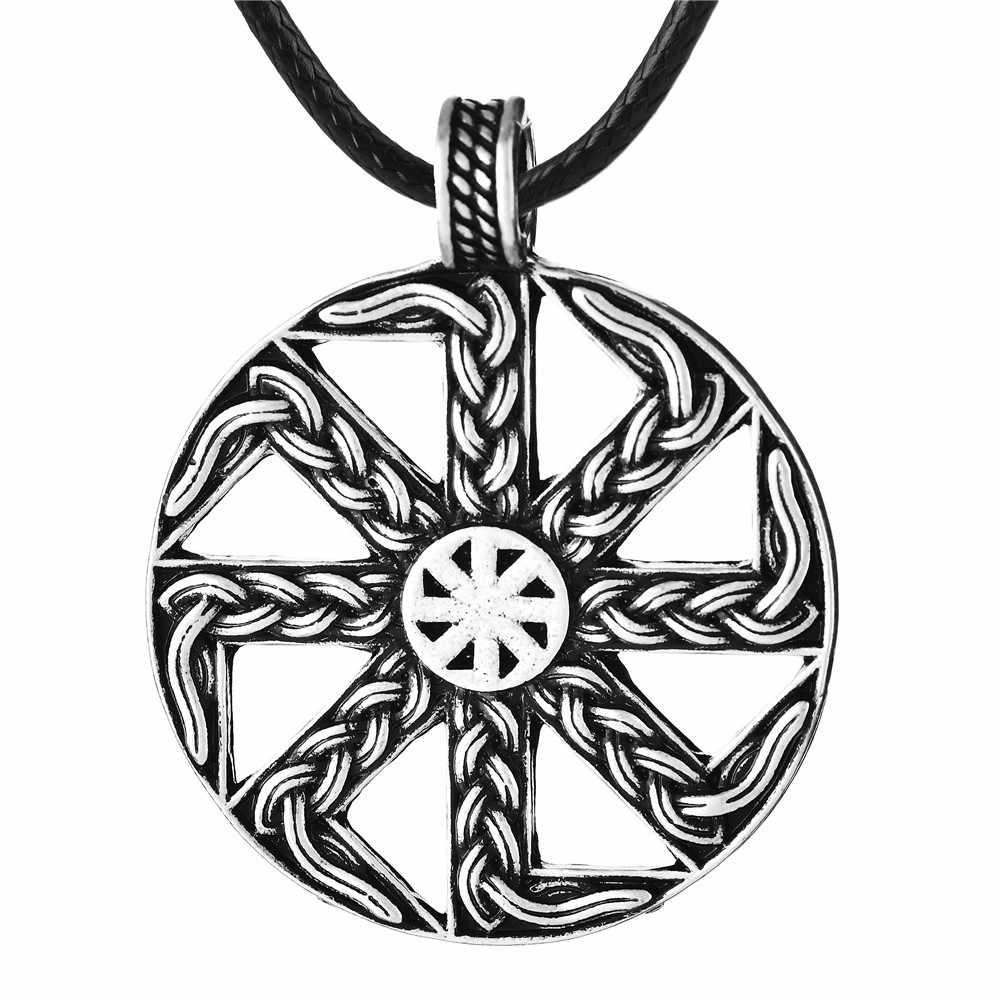 ชาติพันธุ์ Slavic Kolovrat จี้สร้อยคอ Kolovrat Amulet จี้สร้อยคอ Drop Shipping