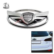 1 unid 3D Silver Badge Emblemas Con etiqueta engomada del coche de Cinta de Doble cara Para 2010-2015 Hyundai GENESIS COUPE Car-Styling